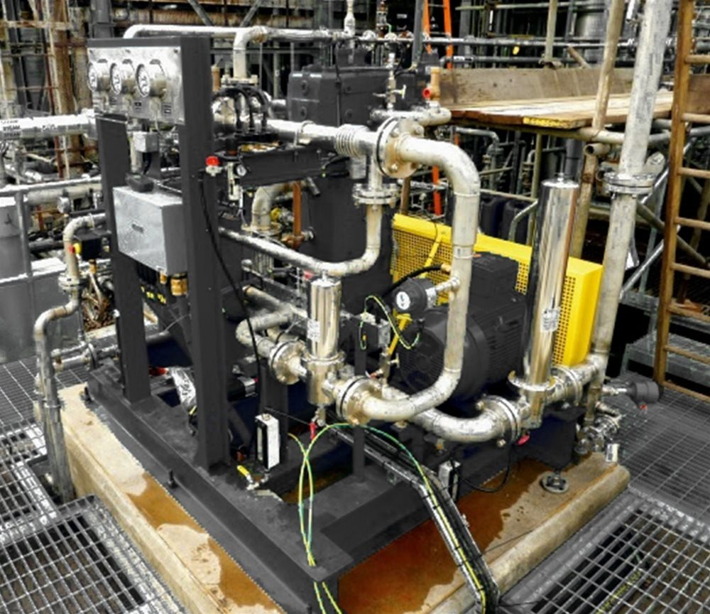 Oil free vents gas compressor system