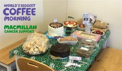 Motivair Macmillan Coffee Morning 2018