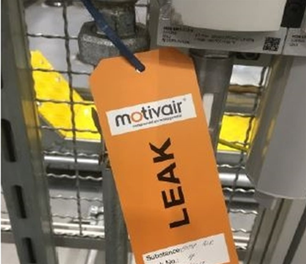 Motivair Air Leakage Tag